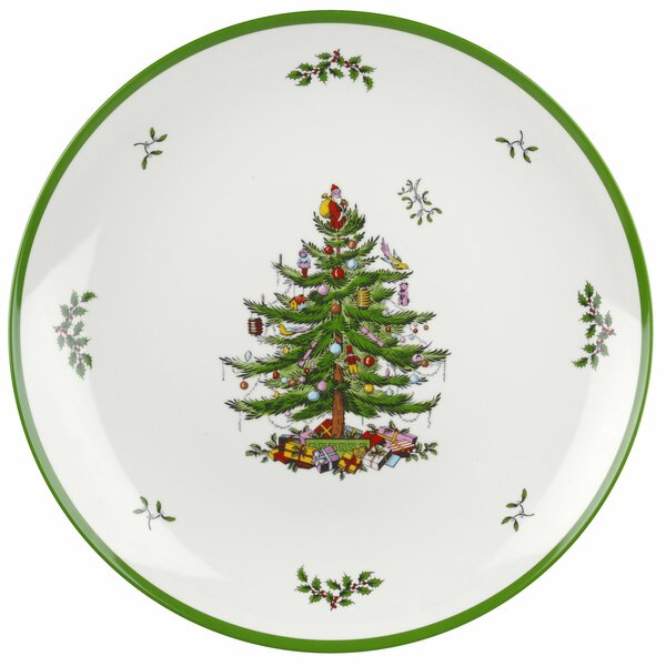 Christmas Tree Round Melamine Platter by Spode