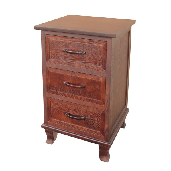 Warburton 3 Drawer End Table by Millwood Pines