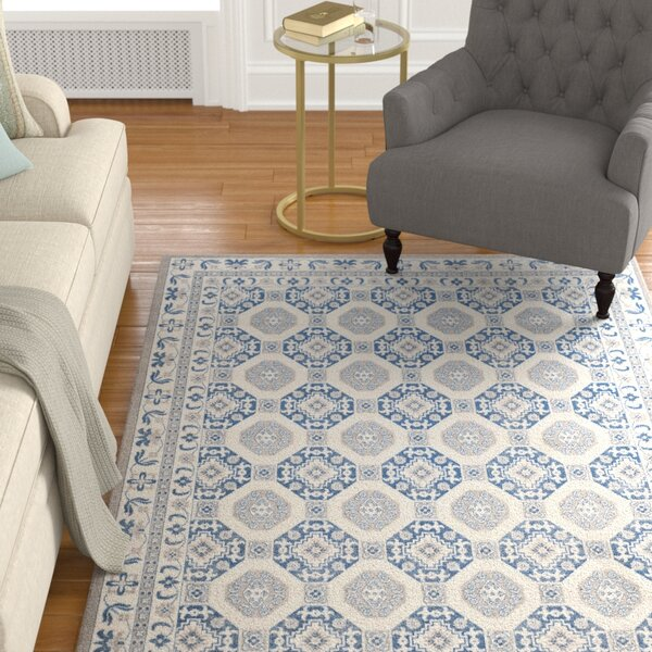Nielsen Gray/Blue Area Rug by Charlton Home