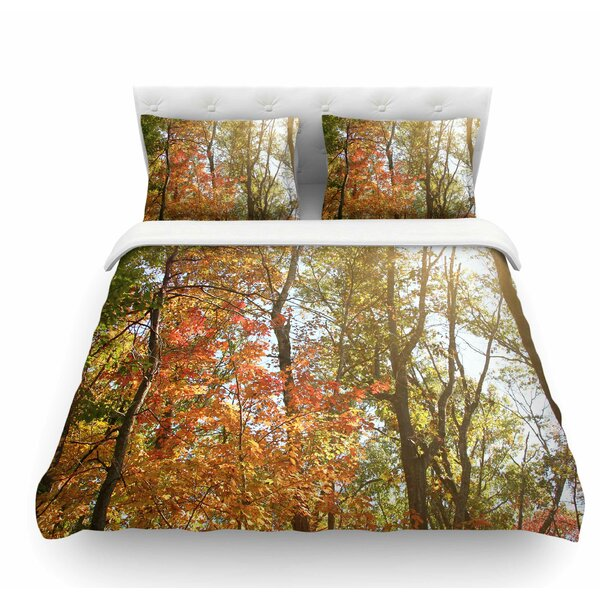 Autumn Trees 1 by Sylvia Coomes Featherweight Duvet Cover by East Urban Home