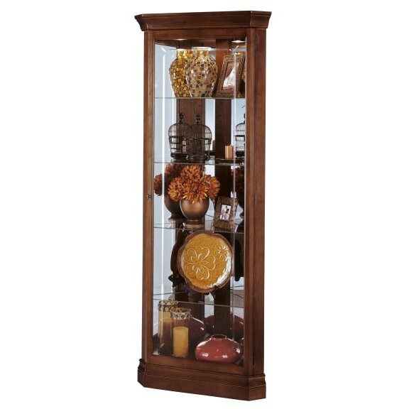 Carpen Lighted Curio Cabinet by Alcott Hill