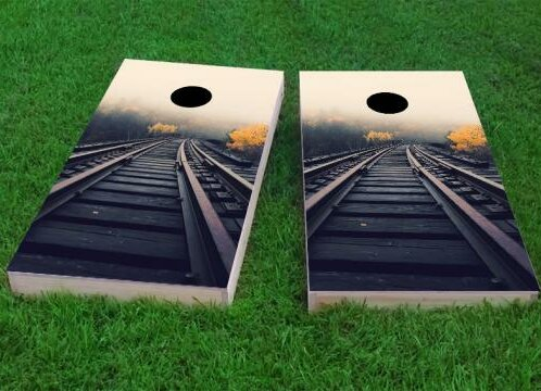 Train Tracks Cornhole Game (Set of 2) by Custom Cornhole Boards