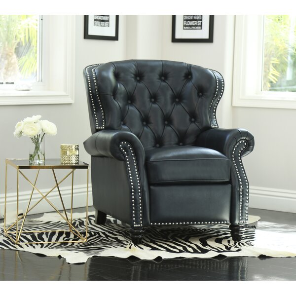 Sindelar Leather Recliner by Darby Home Co