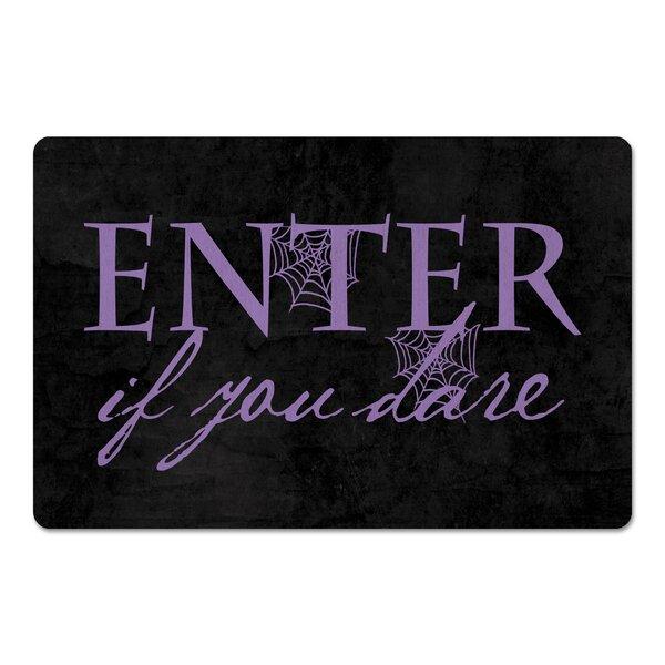 Vivenne Enter If You Dare Kitchen Mat