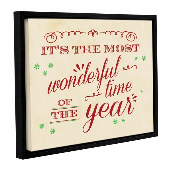 Most Wonderful Time Framed Textual Art on Wrapped