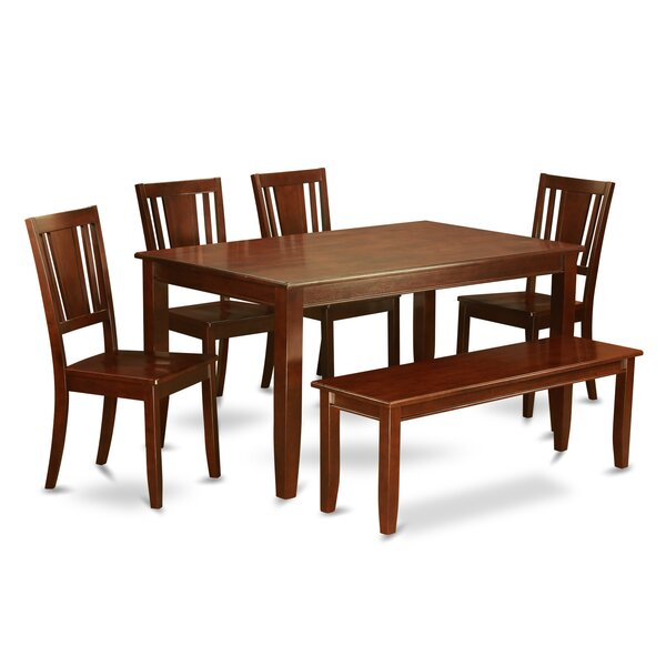 Sisneros 6 Piece Solid Wood Dining Set by Charlton Home Charlton Home