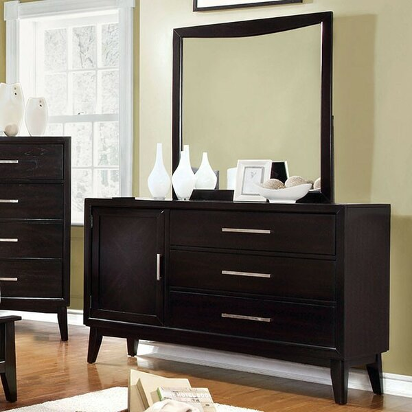 Divya 3 Drawer Combo dresser by Wrought Studio
