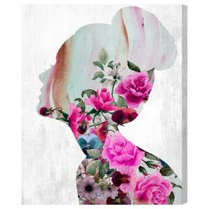 Flower Built Graphic Art on Wrapped Canvas by Mercer41