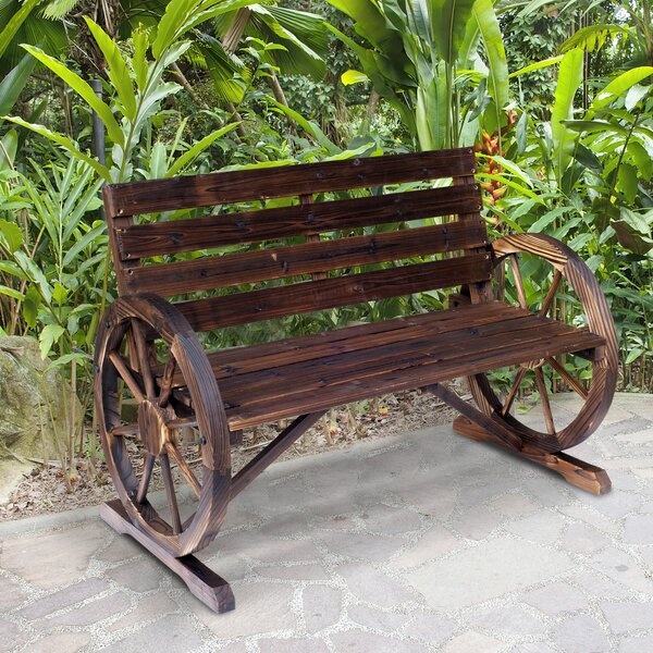 Kasandra Outdoor Wooden Garden Bench by August Grove