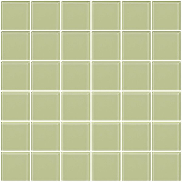 Bijou 22 2 x 2 Glass Mosaic Tile in Light Celery Green by Susan Jablon