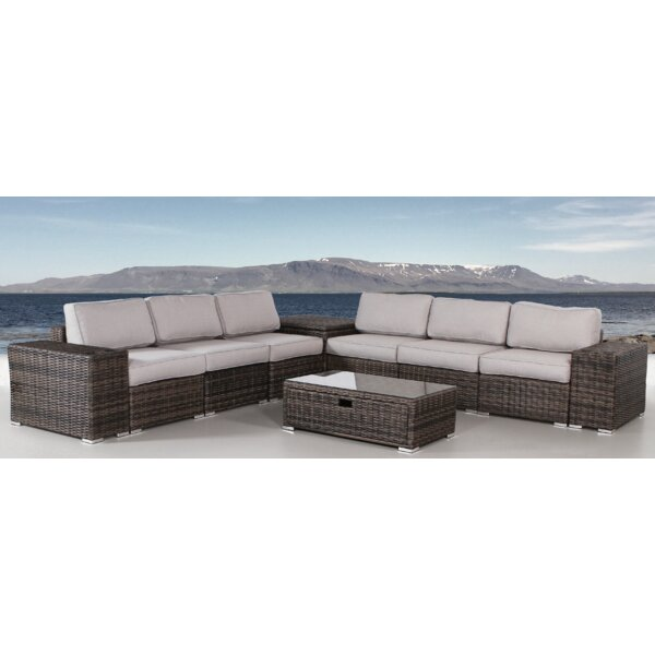 Eldora 10 Piece Sectional Seating Group with Cushions by Sol 72 Outdoor