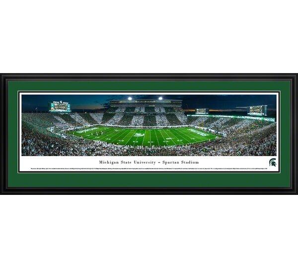 NCAA Michigan State University - Stripe - 50 Yd by James Blakeway Framed Photographic Print by Blakeway Worldwide Panoramas, Inc