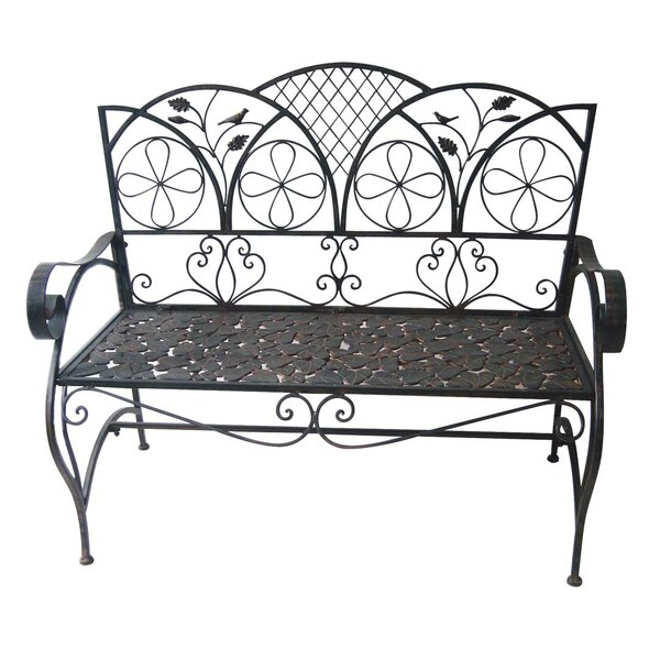 Ridenour Sunleaves Metal Garden Bench by August Grove