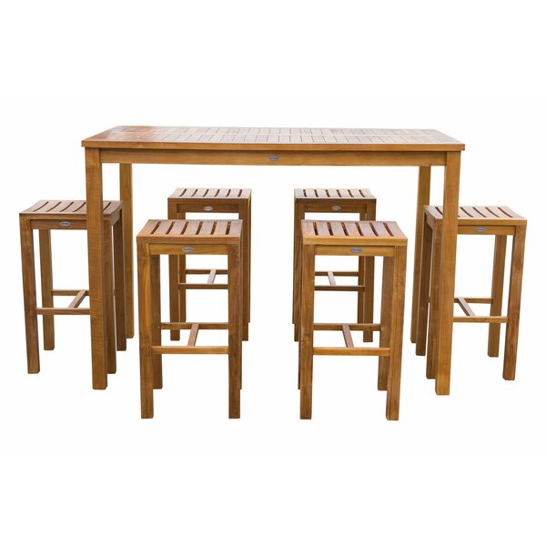 Ingrid 7 Piece Teak Dining Set by Bay Isle Home