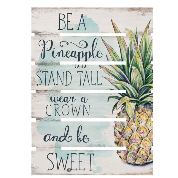 Skid Be a Pineapple Wall Décor by Bay Isle Home