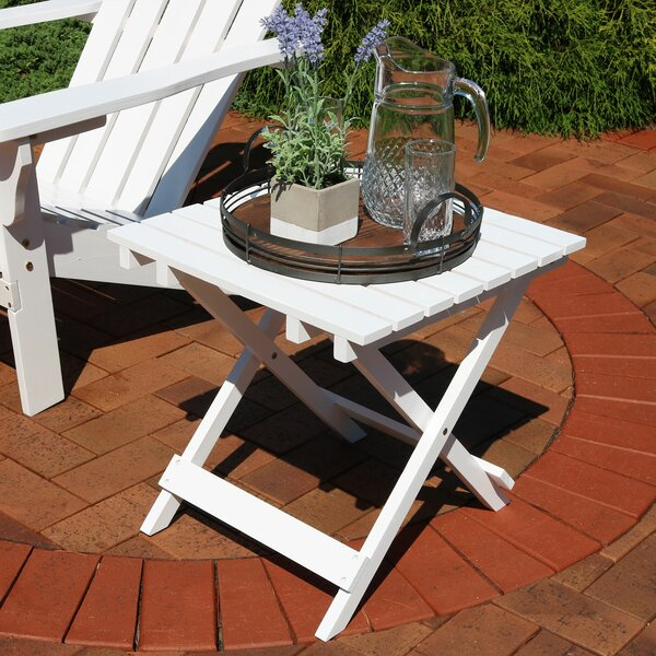 Susan Multi-Use Folding Teak Side Table by Millwood Pines