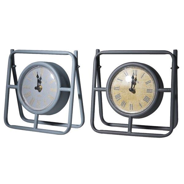 2 Piece Mantle Tabletop Clock Set by Gracie Oaks