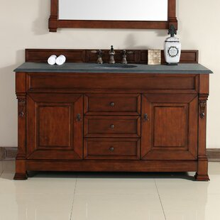 Best Bedrock 60 Single Warm Cherry Bathroom Vanity Set with Drawers By Darby Home Co