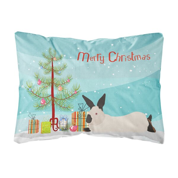 Moraga California Rabbit Christmas Indoor/Outdoor Throw Pillow by The Holiday Aisle
