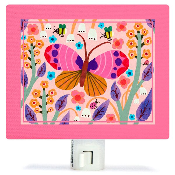 Butterfly Field Canvas Night Light by Oopsy Daisy