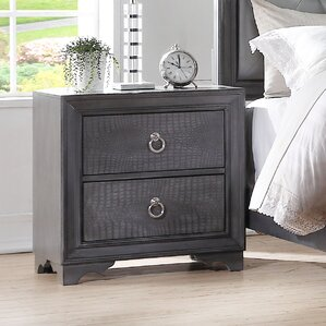 Florine 2 Drawer Nightstand by Rosdorf Park