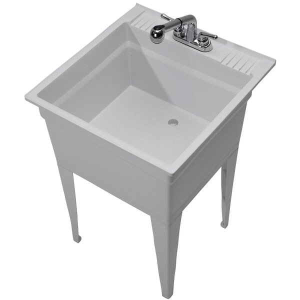 Heavy Duty 23.75 x 24.75 Freestanding Laundry Sink with Faucet by Cashel