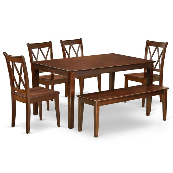 Laffey 6 Piece Solid Wood Dining Set By August Grove