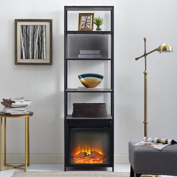 Kole Standard Bookcase with Fireplace by George Oliver