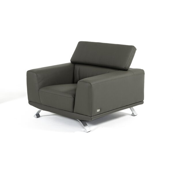 Rhea Eco-Leather Armchair by Wade Logan