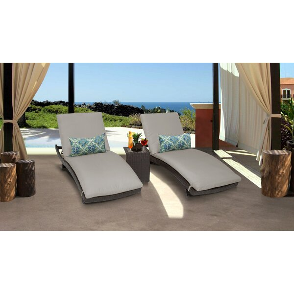 Fernando Curved Sun Lounger Set with Cushion and Table by Sol 72 Outdoor Sol 72 Outdoor