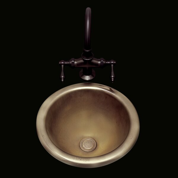 Donna Ceramic Circular Drop-In Bathroom Sink with Overflow by Bates & Bates