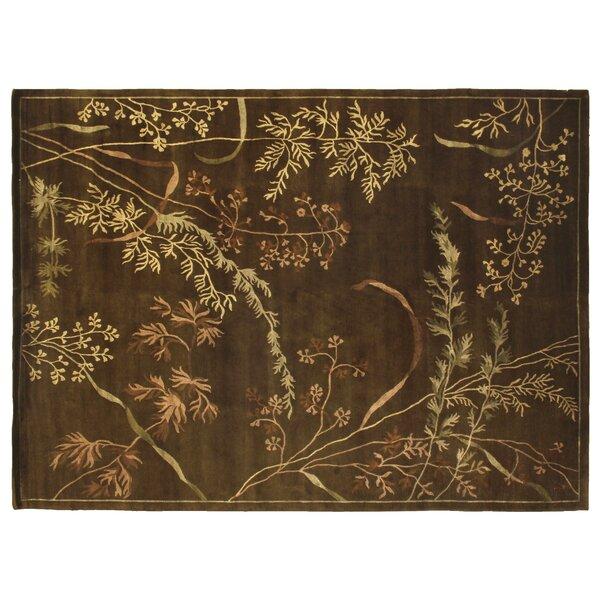 Super Tibetan Hand Knotted Wool/Silk Gold Area Rug