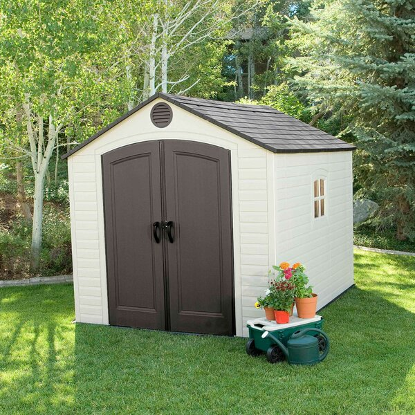 8 ft. W x 7 ft. 8 in. D Plastic Traditional Storage Shed by Lifetime