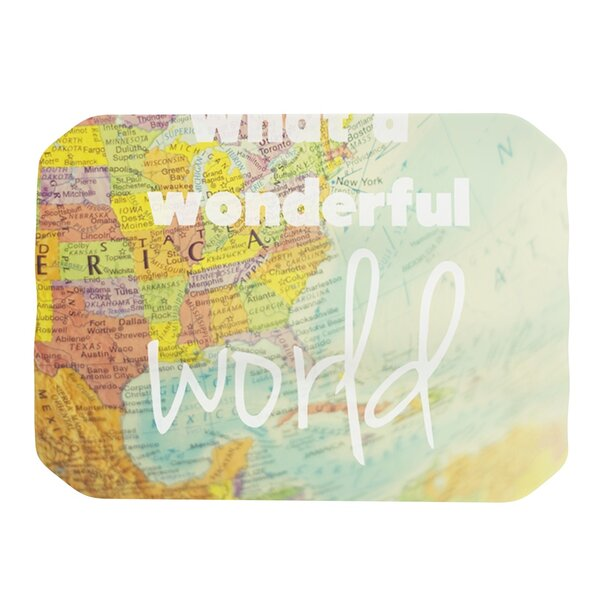 What A Wonderful World Placemat by KESS InHouse
