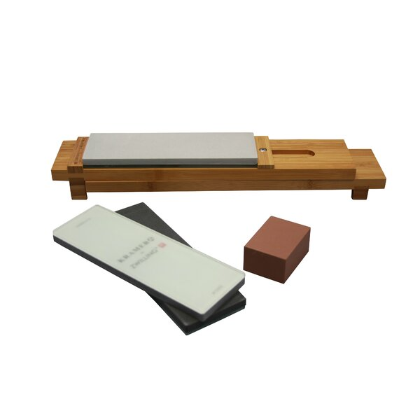 Bob Kramer 6 Piecer Glass Water Sharpening Stone Set by Zwilling JA Henckels