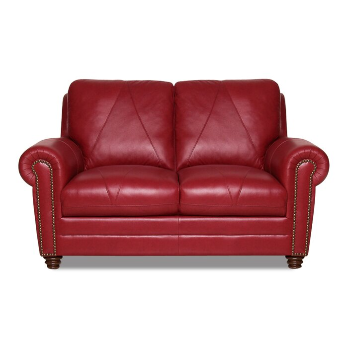 Tremendous Priddy Leather Loveseat Pabps2019 Chair Design Images Pabps2019Com