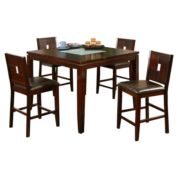 Louviere Counter Height Dining Table George Oliver W001917489