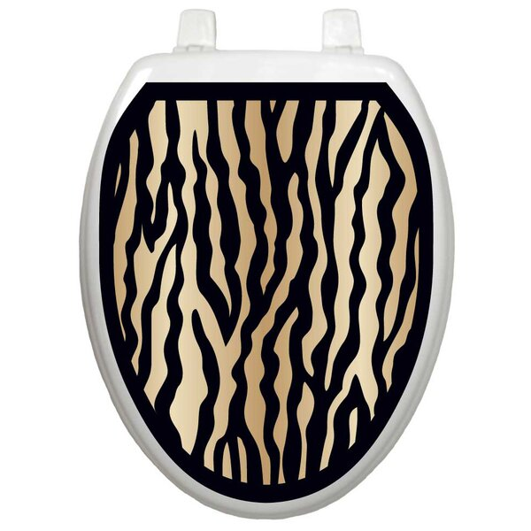 Classic Zebra Toilet Seat Decal by Toilet Tattoos