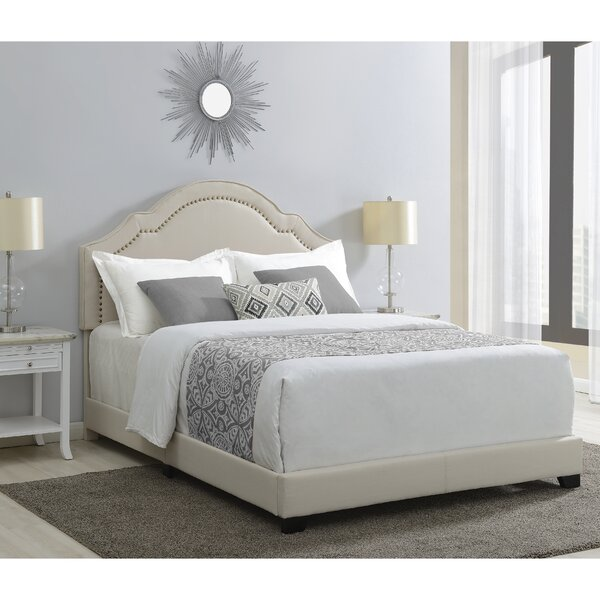 Cathey Shaped Back Upholstered Standard Bed by Laurel Foundry Modern Farmhouse