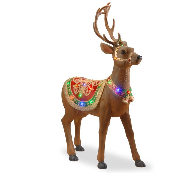 Pre-lit Standing Reindeer by National Tree Co.