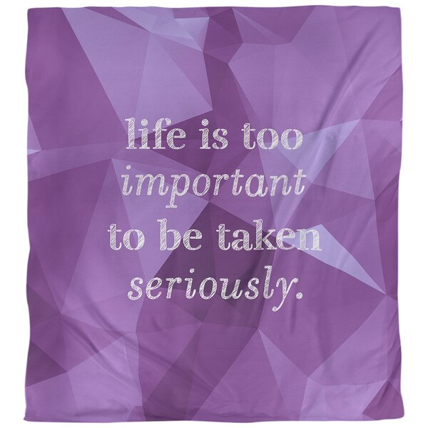 Life and Levity Quote Single Duvet Cover