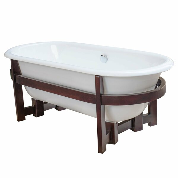 Halden Cast Iron 66 x 30 Freestanding Soaking Bathtub by Maykke