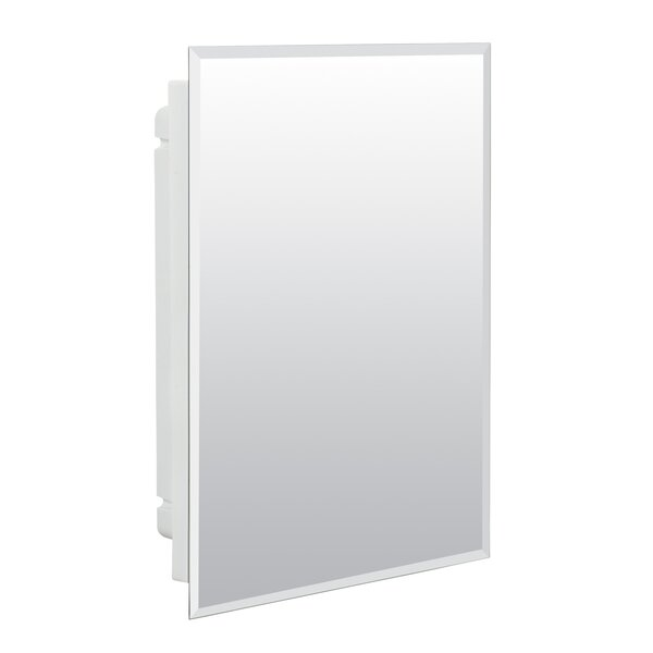 Lamberson 15.5 x 19.5 Recessed Frameless Medicine Cabinet with 2 Adjustable Shelves by Winston Porter