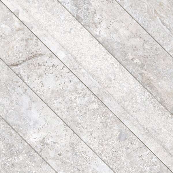 Vstone 19 x 19 Porcelain Field Tile in Silver Cross Matte by Tesoro