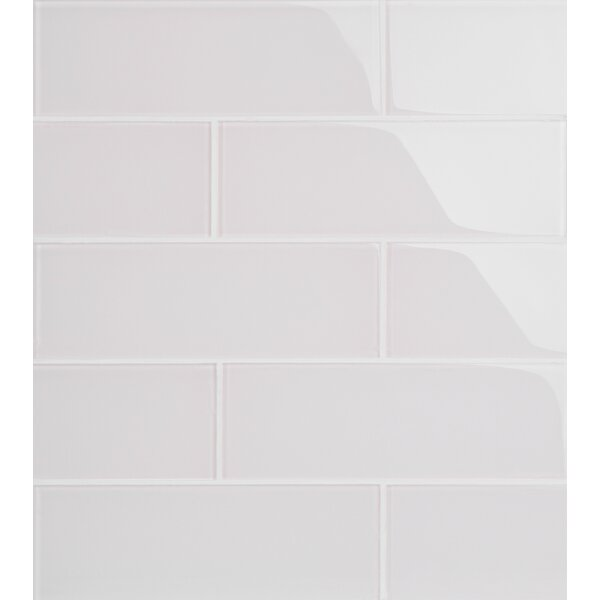 Premium Series 4 x 12 Glass Subway Tile in Glossy Ivory by WS Tiles