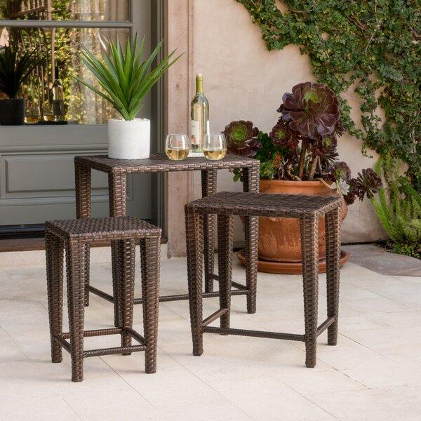 Kinslow 3 Piece Wicker Nesting Table Set by Mercur