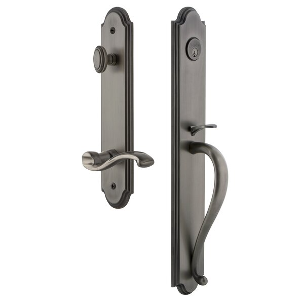 Arc S Grip Dummy Handleset with Portofino Lever by Grandeur
