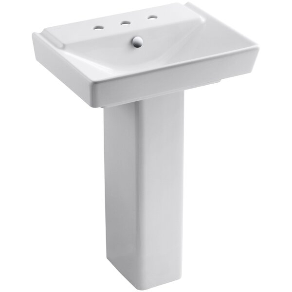 Reve Ceramic 36 Pedestal Bathroom Sink with Overflow by Kohler