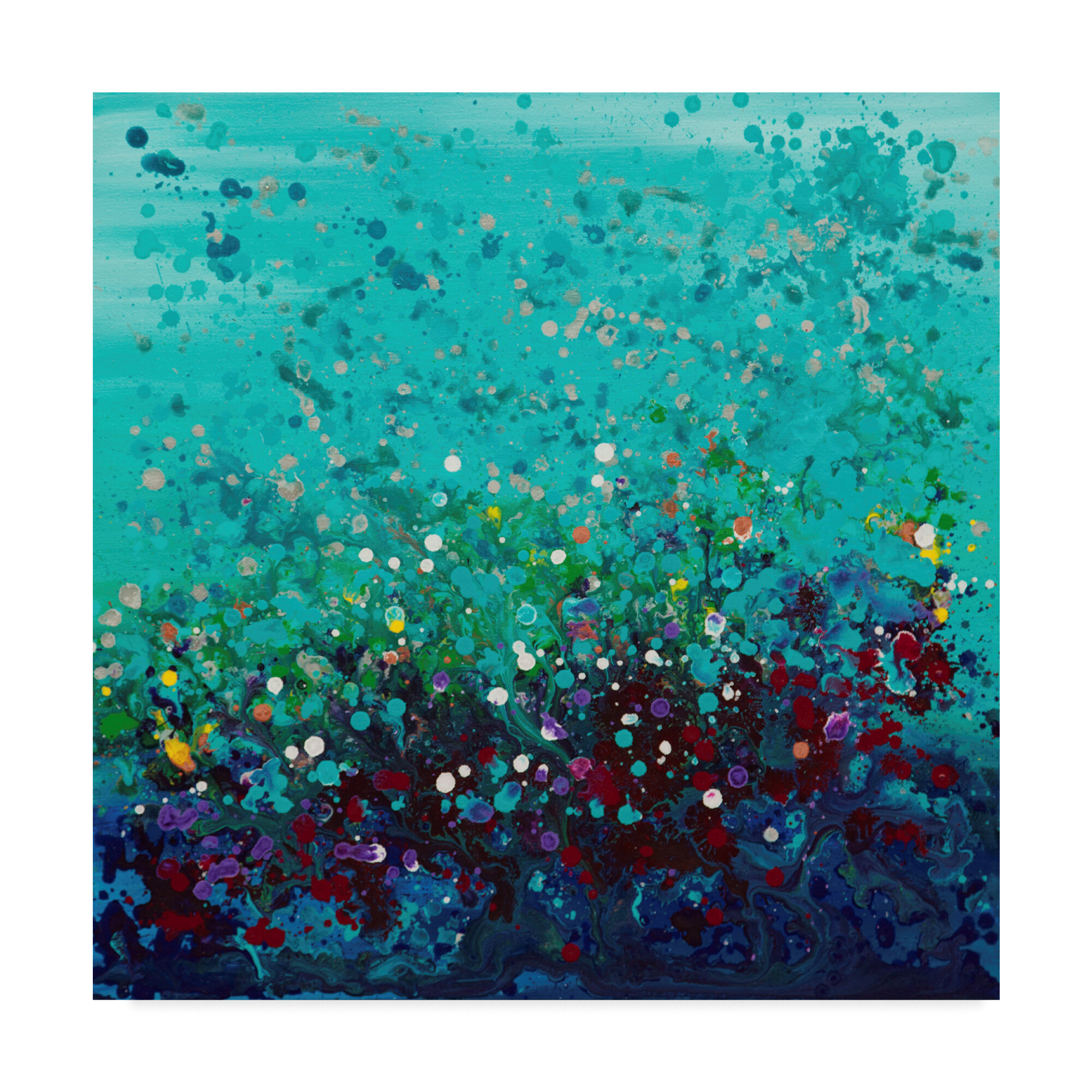 TROPICAL FISH CORAL REEF CASCADE CANVAS WALL ART PRINT PICTURE READY TO HANG