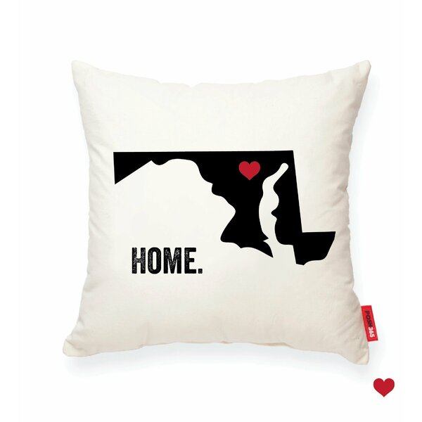 Pettry Maryland Cotton Throw Pillow by Wrought Studio